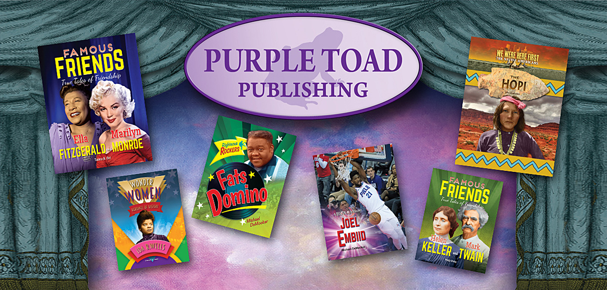 Purple Toad Publishing banner top 1200